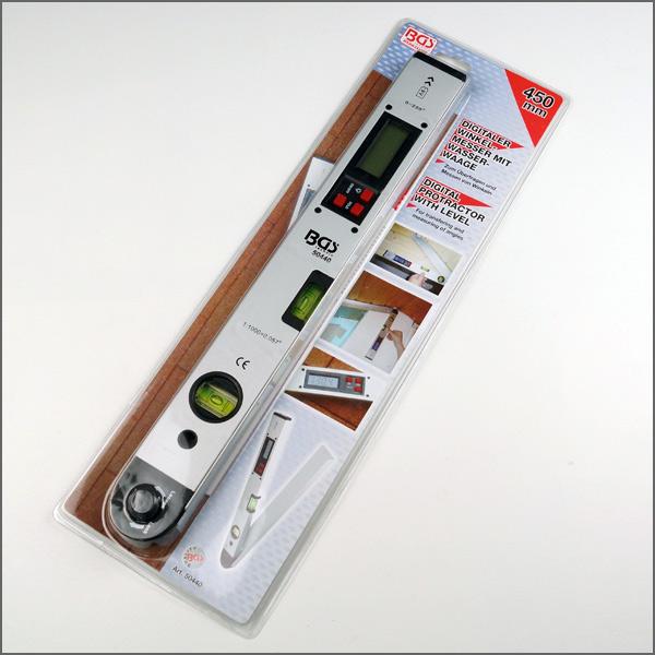 winkel messen digitaler lcd winkelmesser mit wasserwaage gradmesser 450 mm. Black Bedroom Furniture Sets. Home Design Ideas