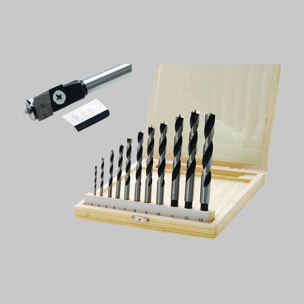bgs holzbohrer zentrumbohrer satz holz bohrer set spiralbohrer 3 13 mm ebay. Black Bedroom Furniture Sets. Home Design Ideas