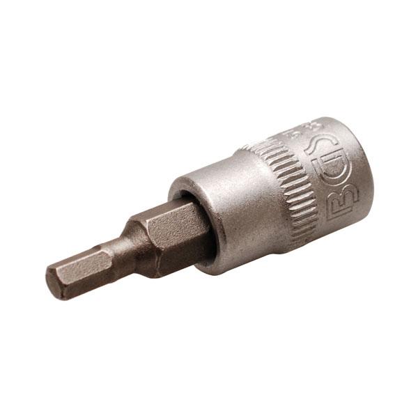 BGS 1//4 Bit-Einsatz Innensechskant  Nuss Sechskant Bit 6-kant nach Wahl 1,5-12mm