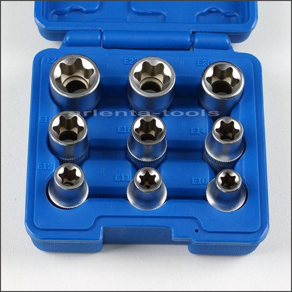 Steckschlüsseleinsatz 1//2Zoll TORX E-Profil Stecknuss E11 38mm 4043981134339
