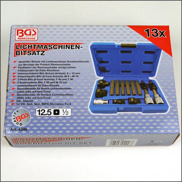 Bgs luz máquinas pzas estriadas herramienta alternador 1//2 VW AUDI bmw MB