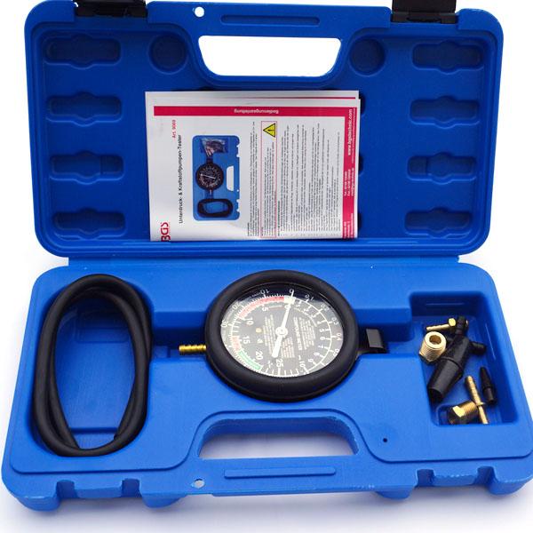 BGS Vakuum und Benzinpumpentester Druck Unterdruck Manometer Tester Prüfgerät
